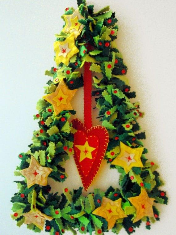 PDF Pattern Christmas Tree Felt Decoration