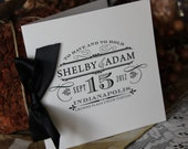 Wedding Programs, Antique, Vintage, Elegant, Classic, monogram, train station suite CHOOSE RIBBON