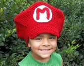 Mario Inspired Hat-Cap-3-10 year old Size