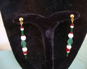 """1 3/4"""" DROPS. PARTLY RECLAIMED glass beads."""