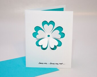 Loves Me...Loves Me Not...Card with Detachable Petals