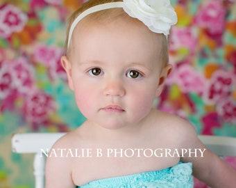 Baby Headbands-Ivory Headband-Photography prop