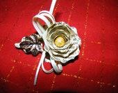 Vintage Hymnal Flower Brooch - Wedding Pin