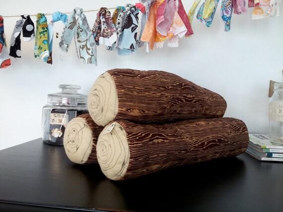 woodland log pillow
