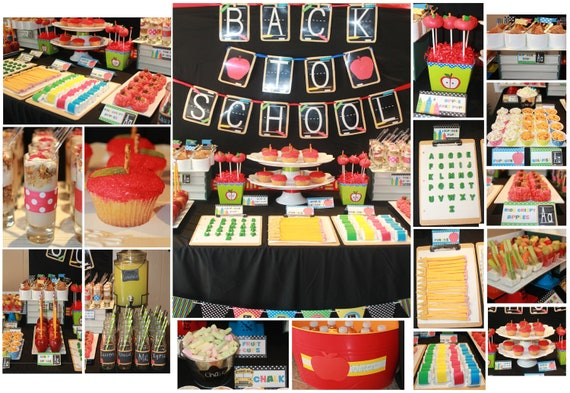 Back to school party decorations back to school by for Back to school party decoration ideas