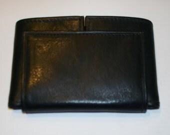 Vintage leather black pocket wallet amazing