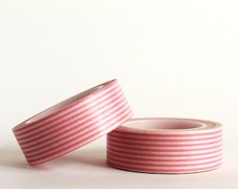 Pink  Stripes Washi Tape