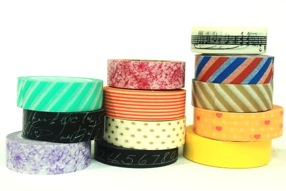 Choose Any 6 Washi Tapes or Oil Paper Tapes, 15% off