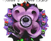 Halloween Bow-  SILLY SPIDER Hair Bow - Happy Halloween Boutique Bow by Violet's Velvet Box