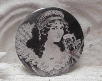 "1971 Falstaff 3"" Hand Mirror Vintage"