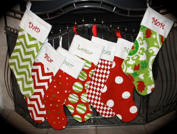 Items Similar To Sale Set Of 5 Personalized Christmas