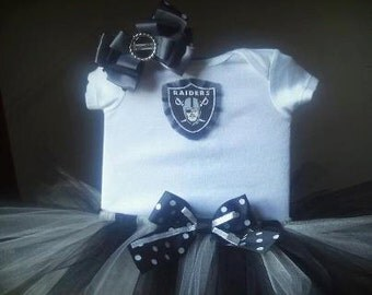 Oakland Raiders inspired tutu outfit