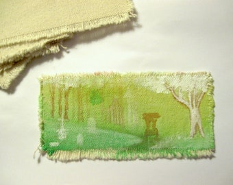 Carriage in Cemetery hand painted bookmark