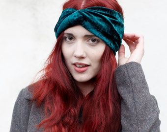 Velvet Turban Headband - Choose from 9 Colours