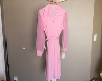 Beautiful new 1960's pink dress
