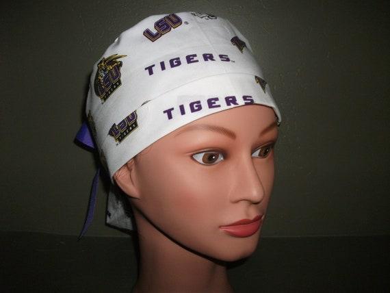 LSU ponytail scrub cap