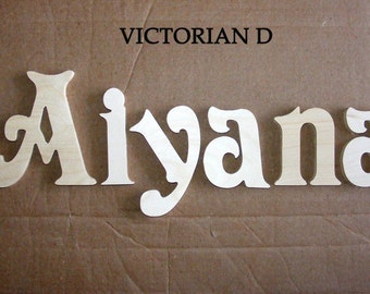 7 letters name set-10 INCH  Unpainted Wooden  Letters-Wood Letters-Wall Letters- Monogram Letters -Unfinished-Custom size available