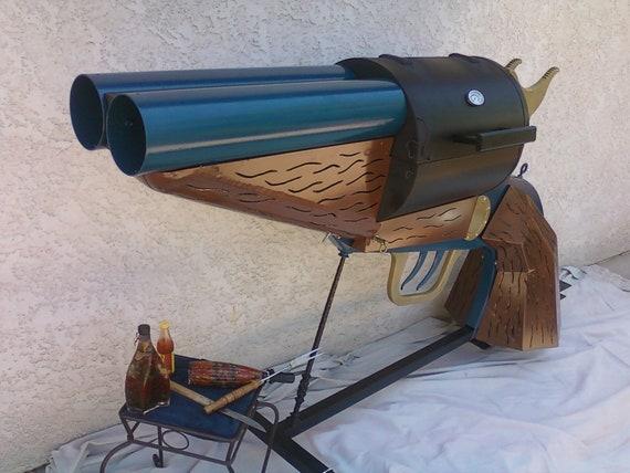 Double-Barrel Pistol-Grip Sawed-Off Shotgun BBQ grill.