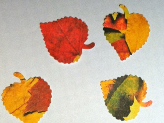50 Large FALL LEAVES Hand punched die cuts party decorations,Invitations,scrapbooking, HALLOWEEN cards