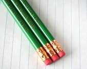 even artichokes have hearts three 3 pencils in green. Hilarious pencils for veggie lovers and deadpan snarkers everywhere.