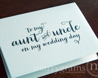 Wedding Card to Your Aunt and Uncle - To My Aunt & Uncle on My Wedding Day - Family of the Bride or Groom Cards - CS02