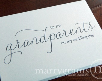 Wedding Card to Grandparents of the Bride or Groom Cards, Grandmother, Grandfather - To My Grandparents on My Wedding Day Thank You CS01