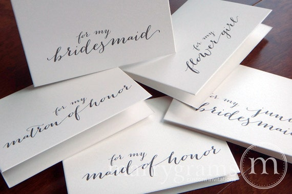 Bridesmaid Thank You Note For My Bridesmaid Maid Of Honor Etsy