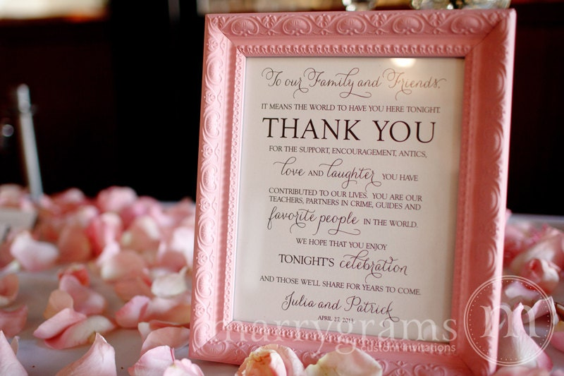 how to sign wedding thank you notes