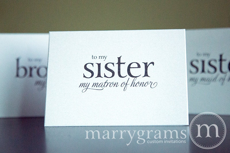 Wedding Gift For Groom From Sister : Wedding Card to Your Sister Sister of the Bride or Groom