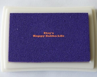 Craft Ink Pad - Deep Purple - Special for wood, fabric and Paper