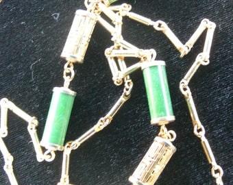 sar cov  green chain necklace