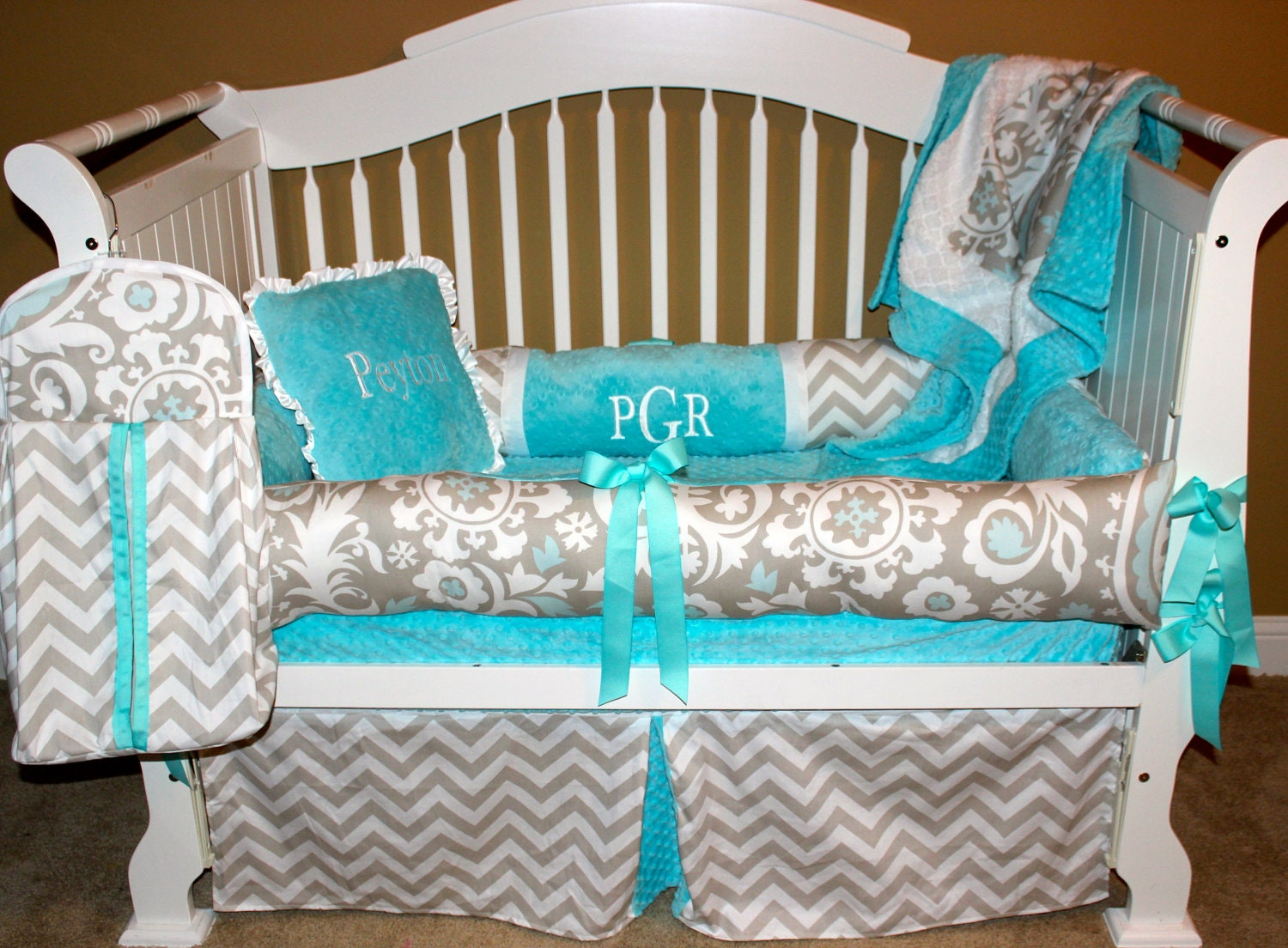Tiffany custom baby bedding crib set 6 pc set by babiesnbaubles