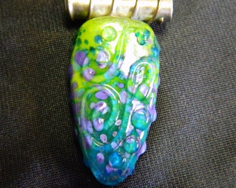 Art Glass Pendant with Snakes