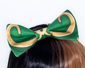 Loki Helmet Cosplay Avengers Costume Hair Bow Headband