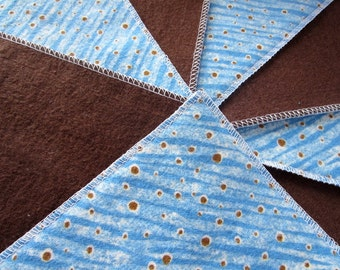 Diaper wipes/Flannel washcloth/Cloth Diaper Wipes for Baby, Brown dots (10)