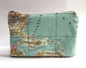 Vintage Map Toiletry Bag Personalized Groomsmen Gift, Travel Cosmetic Pouch, Nautical Wedding Groom Gifts for Him, Compass Destination