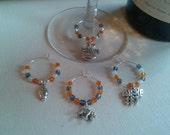 Chicago Bears Wine Charms