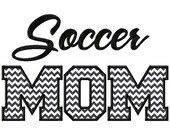 Soccer Mom Applique Machine Embroidery Design - 3 Sizes