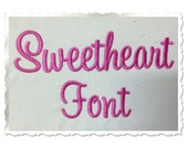 Sweetheart Machine Embroidery Font Monogram Alphabet - 3 Sizes