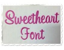 Sweetheart Machine Embroidery Font Monogram Alphabet - 3 Sizes