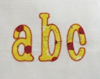 Zig Zag Chachie Applique Machine Embroidery Font Monogram Alphabet - 4 Sizes