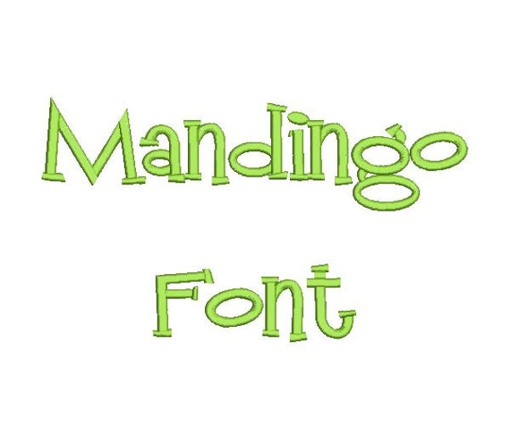 Mandingo Machine Embroidery Font Monogram Alphabet - 3 Sizes