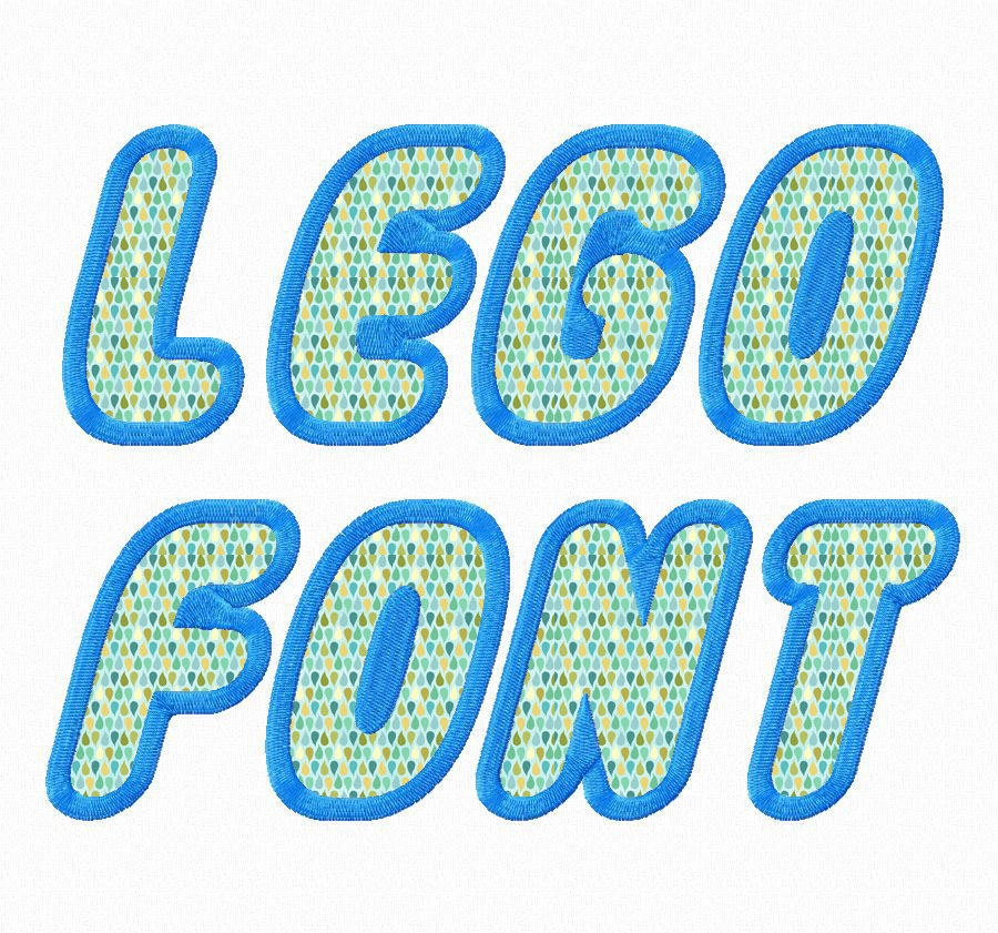 Lego Applique Machine Embroidery Font by RivermillEmbroidery