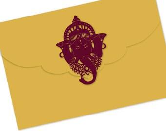 "Pocketfold invitation - ""Lord Ganesh"""