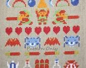 Legend of Zelda - NES - Band Sampler Cross Stitch PATTERN