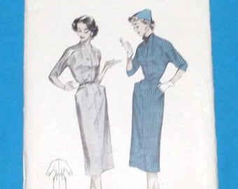 Vintage Dress Pattern with Saddle or Top Stitching