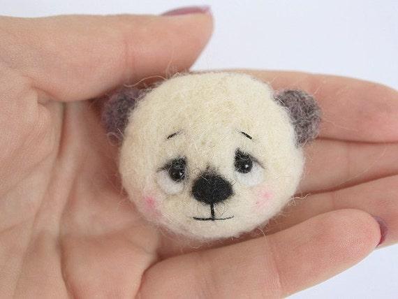 Mago.Teddy bear brooch.