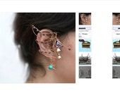 Zelda Ear Cuffs-Elven// WIng/ Elf// Fae// Fairy Style-Triforce-Link