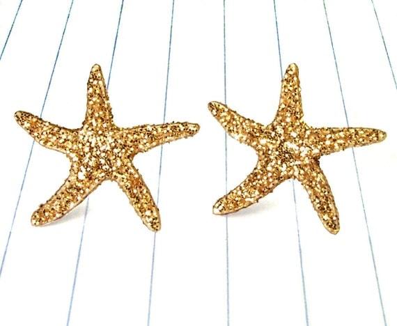 starfish earrings - starfish jewelry - starfish studs - starfish - nautical - nautical earrings - nautical jewelry - nautical studs - summe