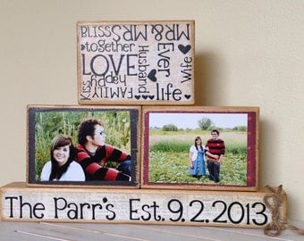 Personalized Wedding gift last name established sign family name custom wedding gift wooden sign 5 year anniversary  establish sign couples